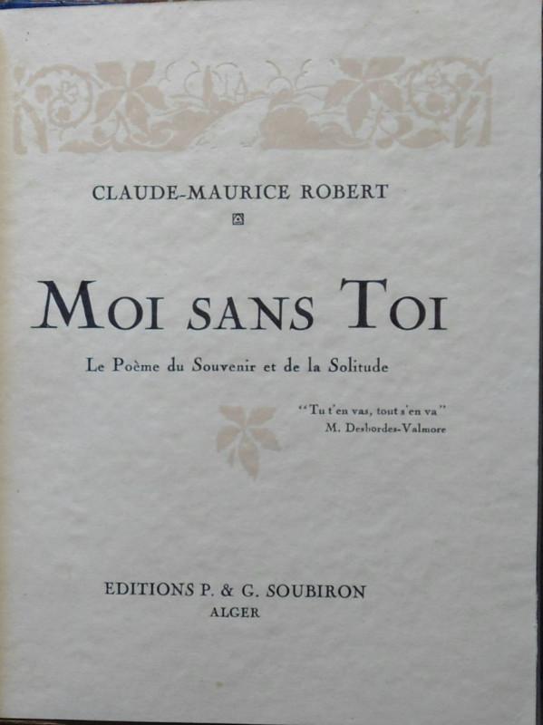 Moi Sans Toi Le Poeme Du Souvenir Et De La Solitude