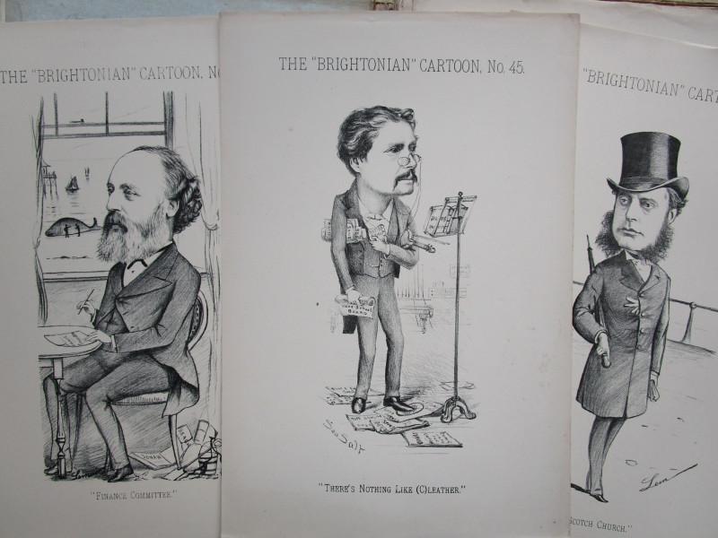 1880s BRIGHTON The BRIGHTONIAN Newspaper 74 CARTOONS of Brighton People Sussex (8)